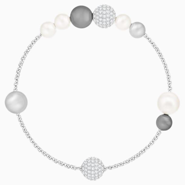 Řetízek s perlami z kolekce Swarovski Remix, Šedý, Rhodiem pokovený - Swarovski, 5365739