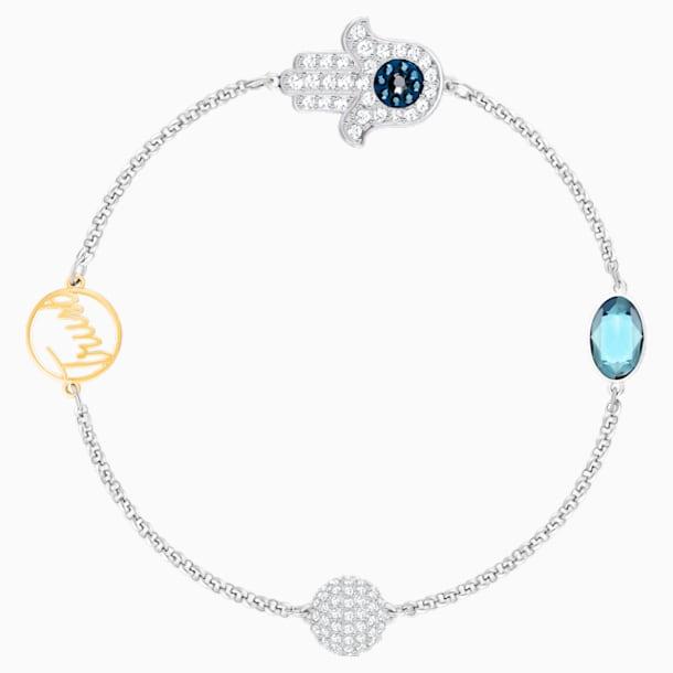 Swarovski Remix Collection Hamsa Hand Strand, 蓝色, 多种金属润饰 - Swarovski, 5365759