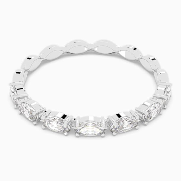 Prsten Vittore s kameny ve tvaru zašpičatělého oválu, bílý, rhodiovaný - Swarovski, 5366570