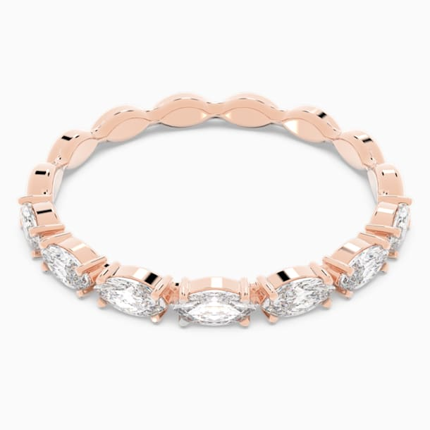 Vittore Marquise Ring, White, Rose-gold tone plated - Swarovski, 5366573