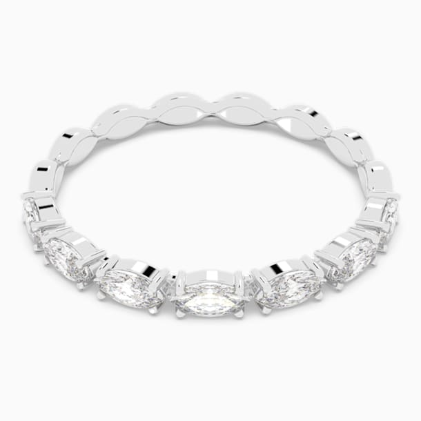 Vittore Marquise 戒指, 白色, 鍍白金色 - Swarovski, 5366584