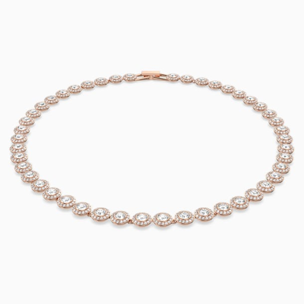 Angelic Necklace, White, Rose-gold tone plated - Swarovski, 5367845