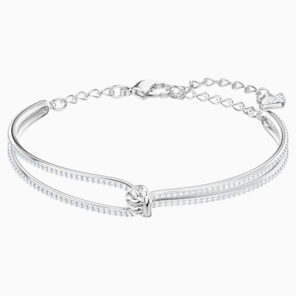 Lifelong Bangle, White, Rhodium plated - Swarovski, 5368552