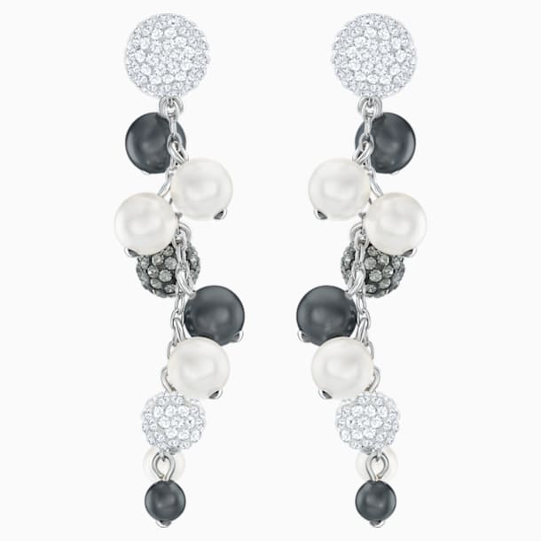 Lady Jane Pierced Earrings, Multi-colored, Rhodium plated - Swarovski, 5368697