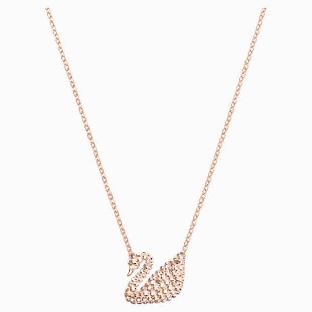 Swarovski Iconic Swan 链坠, 白色, 镀玫瑰金色调 - Swarovski, 5368988