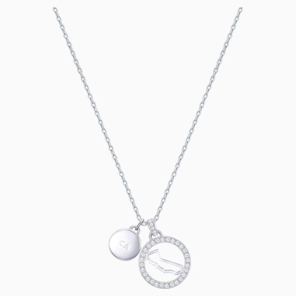 Pendentif Lena California, blanc, métal rhodié - Swarovski, 5373659