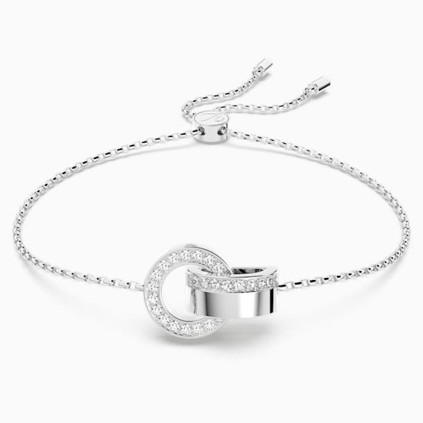 Bracelet Hollow, blanc, métal rhodié - Swarovski, 5373969