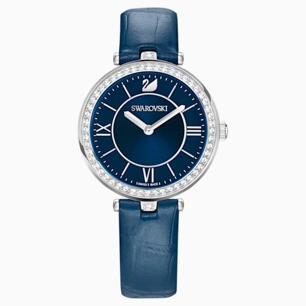 Aila Dressy Lady 手錶, 真皮錶帶, 藍色, 不銹鋼 - Swarovski, 5376633