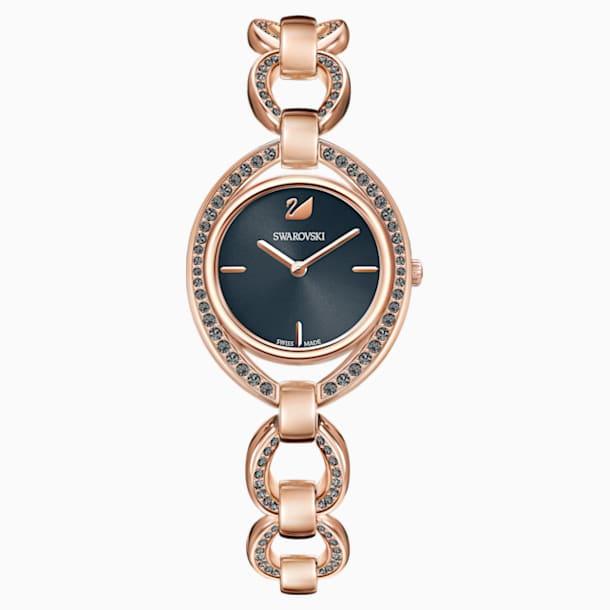 Stella Watch, Metal bracelet, Dark gray, Rose-gold tone PVD - Swarovski, 5376806