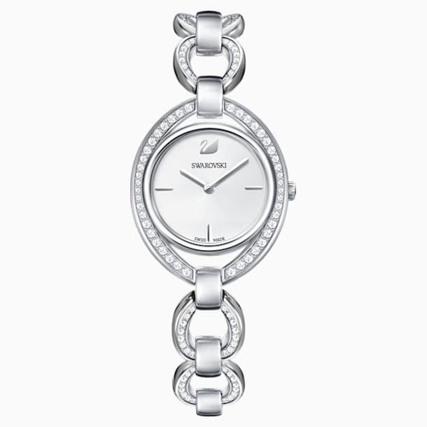 Stella Watch, Metal bracelet, White, Stainless steel - Swarovski, 5376815