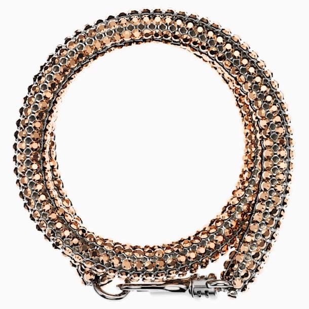 Skinny Double Bolster 手链, 镀钯 - Swarovski, 5377155