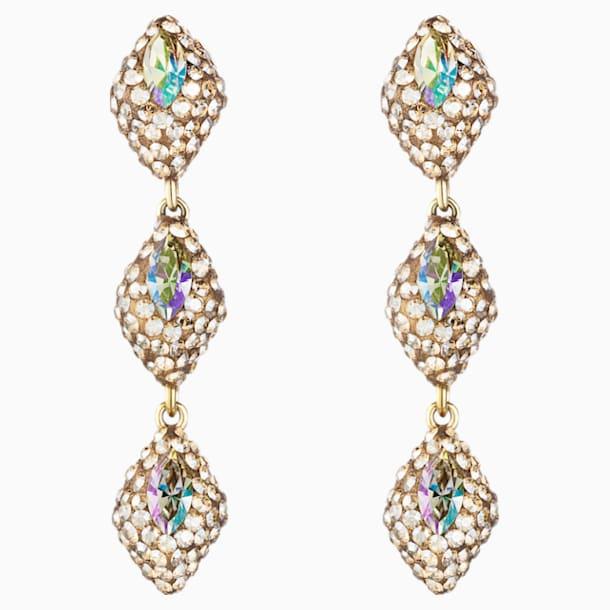 Moselle Mini Drop Pierced Earrings, Gold-tone plated - Swarovski, 5377179