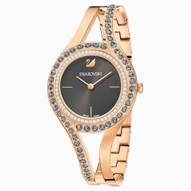 Zegarek Eternal, bransoleta z metalu, ciemnoszary, powłoka PVD w odcieniu różowego złota - Swarovski, 5377551