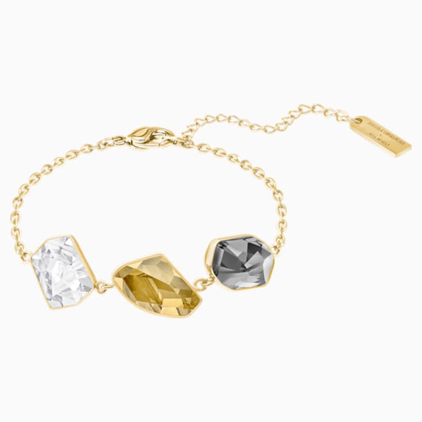 Prisma 手鏈, 多色設計, 鍍金色色調 - Swarovski, 5377981