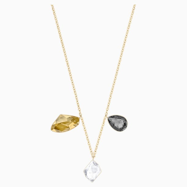 Prisma Necklace, Multi-colored, Gold-tone plated - Swarovski, 5377986