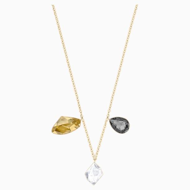 Prisma 項鏈, 多色設計, 鍍金色色調 - Swarovski, 5377986