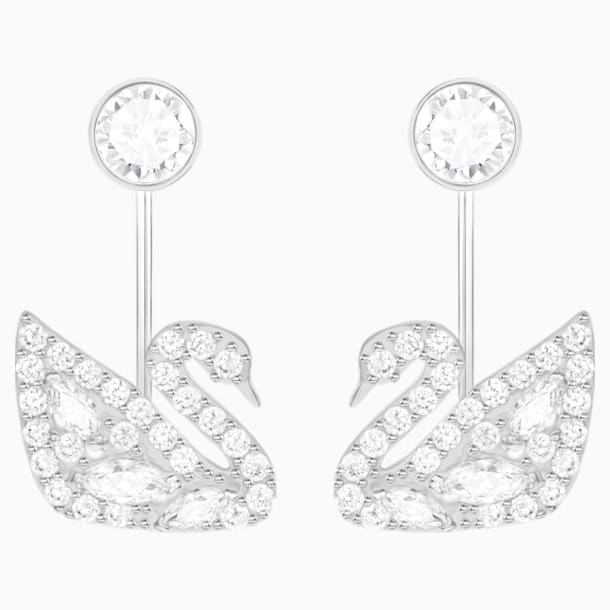 Boucles d'Oreilles « Ear-Jacket » Swan Lake, blanc, Métal rhodié - Swarovski, 5379944