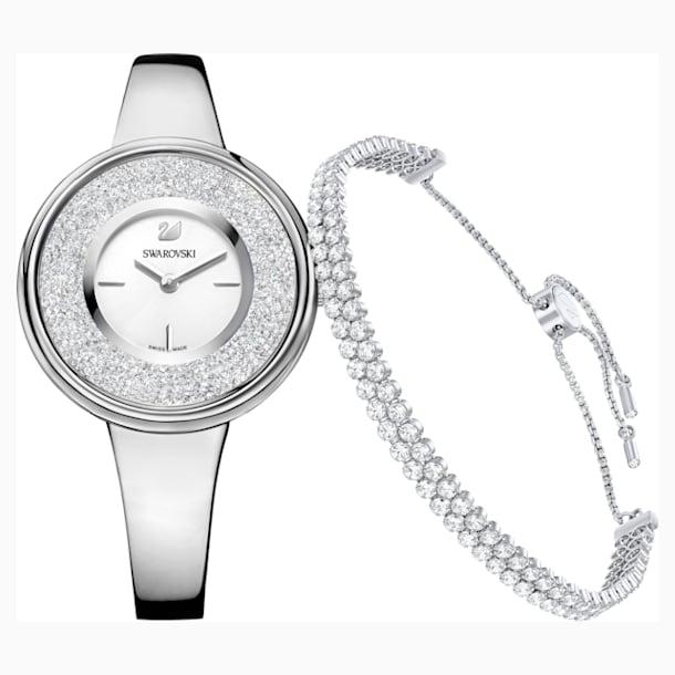 Conjunto Crystalline Pure, blanco, tono plateado - Swarovski, 5380026