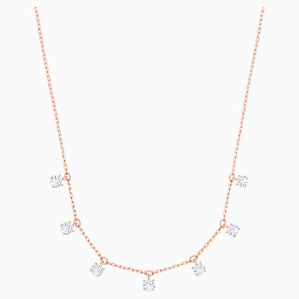 Attract Choker, White, Rose-gold tone plated - Swarovski, 5380061