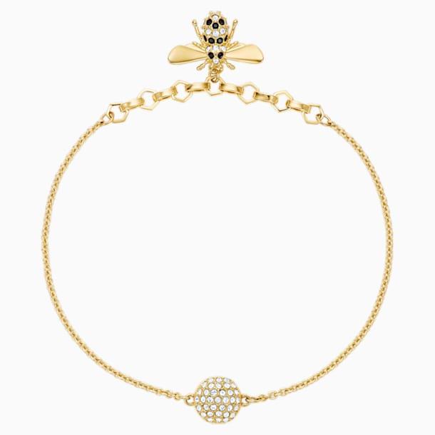Swarovski Remix Collection Bee Strand, Черный Кристалл, Покрытие оттенка золота - Swarovski, 5380077