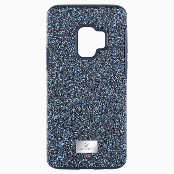 High Smartphone Case with Bumper, Galaxy S®9, Blue - Swarovski, 5380300