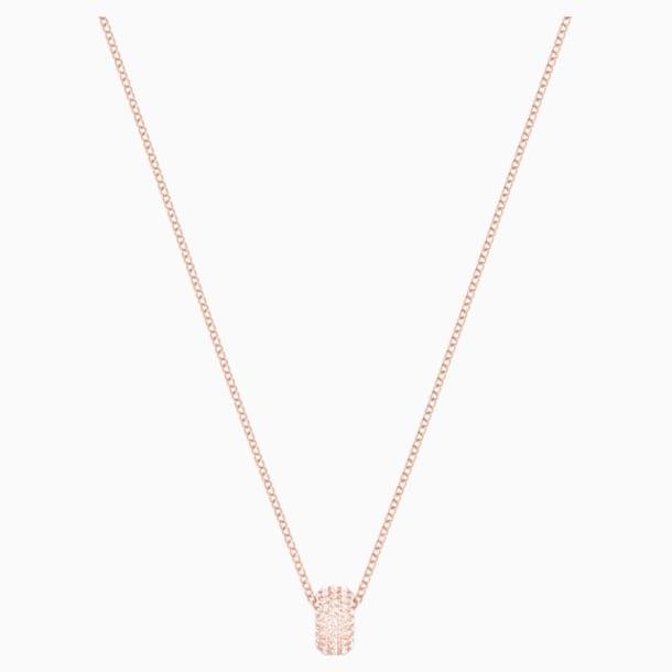 Anillo Stone Round, rosa, Baño en tono Oro Rosa - Swarovski, 5383957