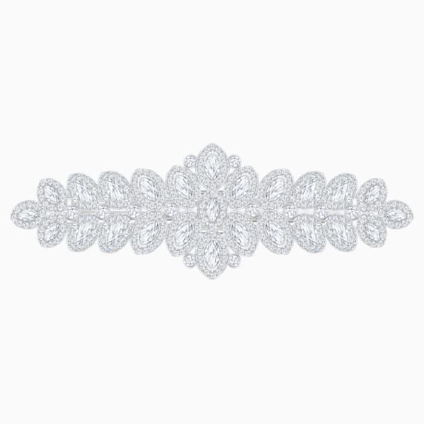 Baron 发夹, 白色, 镀钯色 - Swarovski, 5384992
