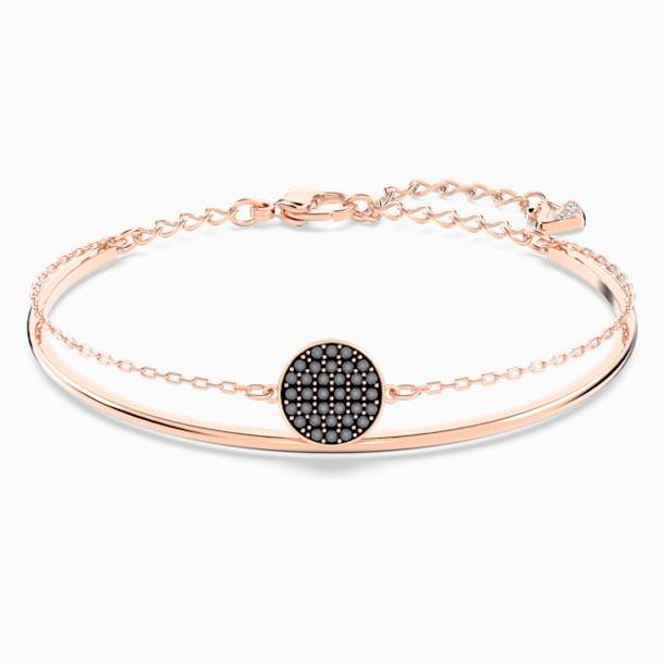 Ginger Жёсткий браслет, Серый Кристалл, Покрытие оттенка розового золота - Swarovski, 5389046