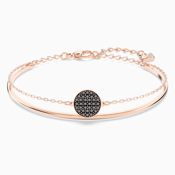 Ginger Bangle, Gray, Rose-gold tone plated - Swarovski, 5389046