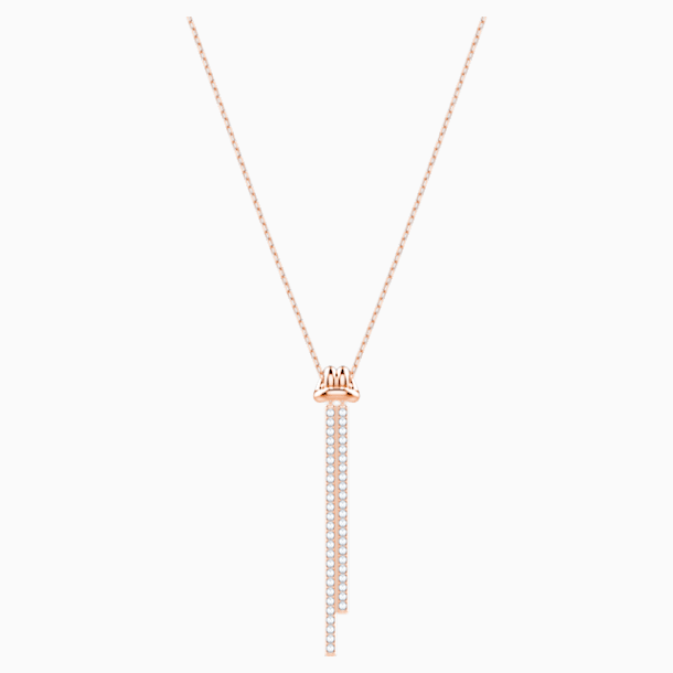 Lifelong Y Pendant, White, Rose-gold tone plated - Swarovski, 5390817