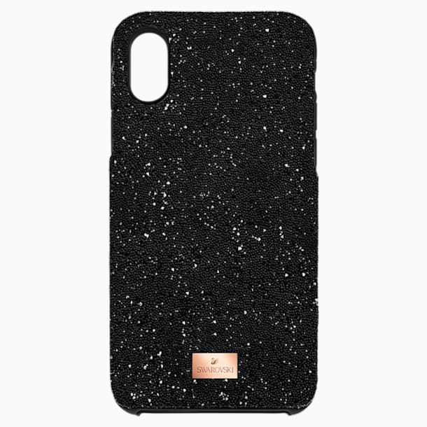 High Smartphone Case with Bumper, iPhone® X/XS, Black - Swarovski, 5392040