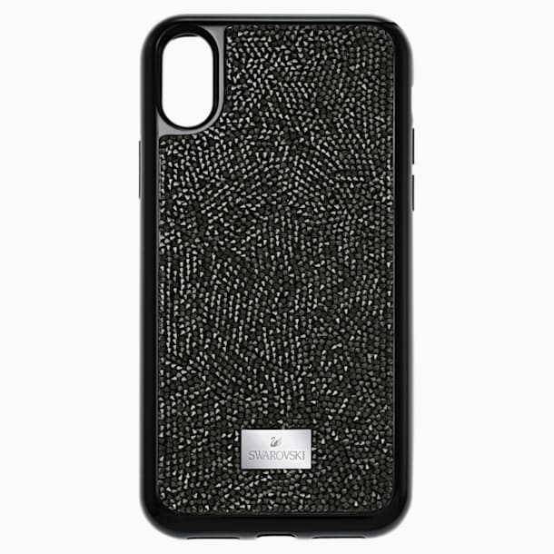 Custodia smartphone con bordi protettivi integrati Glam Rock, iPhone® X/XS, nero - Swarovski, 5392050