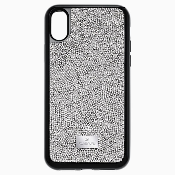 Glam Rock Smartphone Case with integrated Bumper, iPhone® X/XS, Gray - Swarovski, 5392053