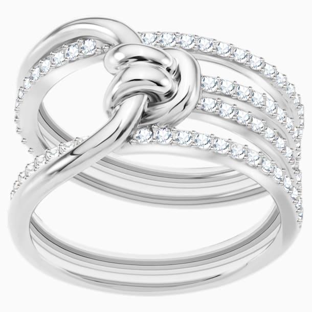 Lifelong Wide Ring, White, Rhodium plated - Swarovski, 5392183