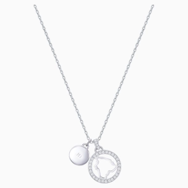 Pendentif Lena Hawaii, blanc, métal rhodié - Swarovski, 5393526