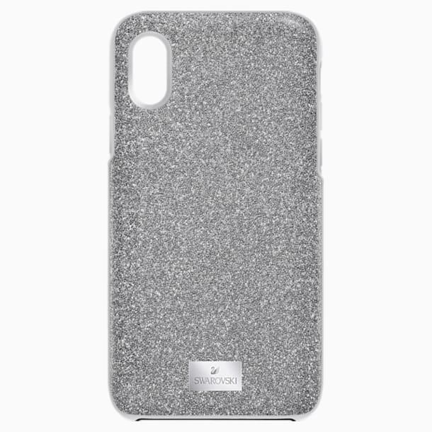 Funda para smartphone con protección rígida High, iPhone® X/XS, gris - Swarovski, 5393906