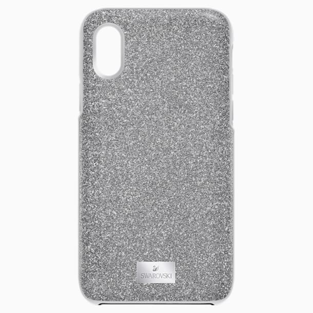 Coque rigide pour smartphone avec cadre amortisseur High, iPhone® X/XS, gris - Swarovski, 5393906