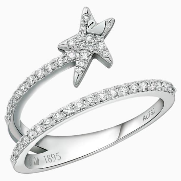 18K WG Dia Wishful Star Open Ring E - Swarovski, 5401316
