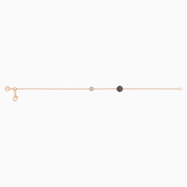 百搭新锐18K玫瑰金钻石黑钻石手链 - Swarovski, 5401327
