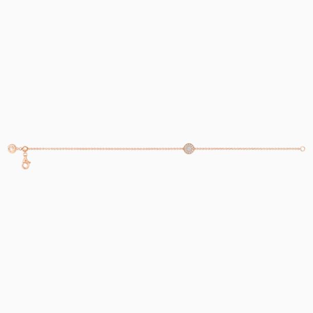 百搭新锐18K玫瑰金钻石手链 - Swarovski, 5401329