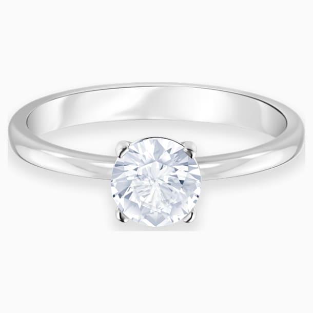 Attract Ring, White, Rhodium plated - Swarovski, 5402428