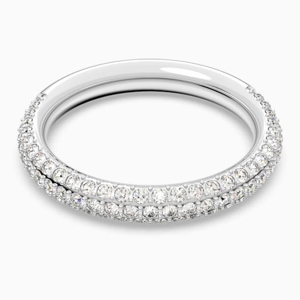 Anello Stone, bianco, Placcatura rodio - Swarovski, 5402438