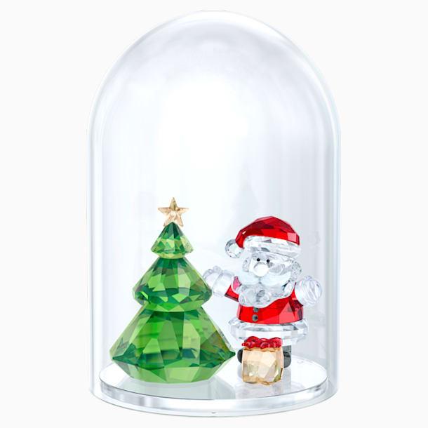 ガラス鐘 クリスマスツリーとサンタ - Swarovski, 5403170