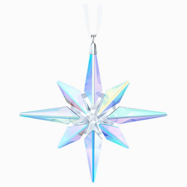 Csillag formájú dísz, Aurora Borealis-bevonattal - Swarovski, 5403200
