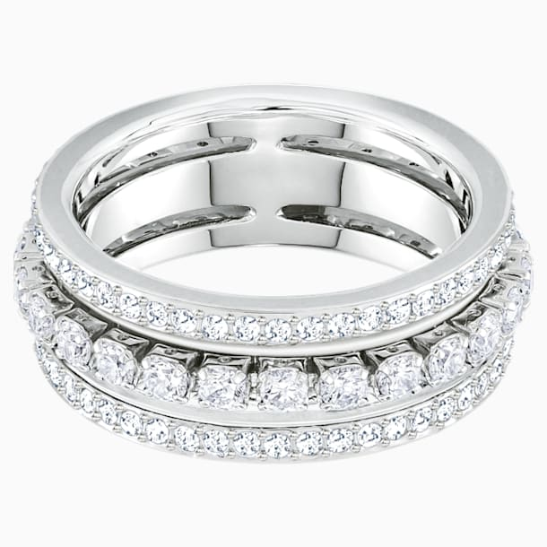 Further Ring, White, Rhodium plated - Swarovski, 5409642