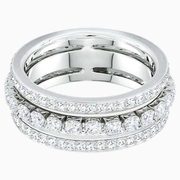 Further Ring, White, Rhodium plated - Swarovski, 5409642