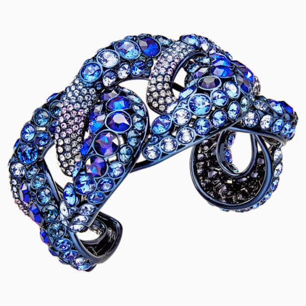 Tabloid Cuff, Multi-colored, Blue PVD Coating - Swarovski, 5410999