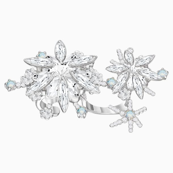 Merry Cocktail Ring, White, Rhodium plated - Swarovski, 5411002