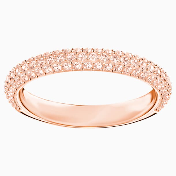 Stone Ring, Pink, Rose-gold tone plated - Swarovski, 5412011