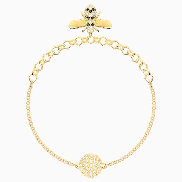 Swarovski Remix Collection Bee Strand, Черный Кристалл, Покрытие оттенка золота - Swarovski, 5412322